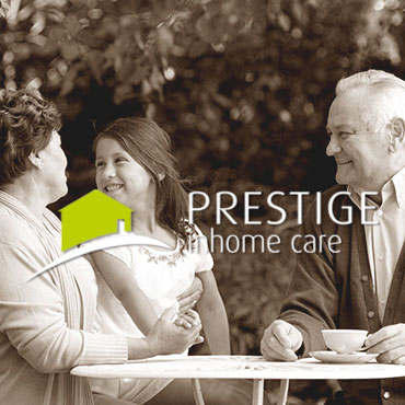 prestige in home care people and logo
